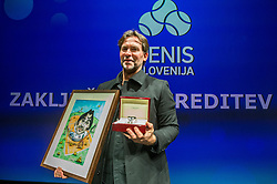 Blaz Trupej during Slovenian Tennis personality of the year 2017 annual awards presented by Slovene Tennis Association Tenis Slovenija, on November 29, 2017 in Siti Teater, Ljubljana, Slovenia. Photo by Vid Ponikvar / Sportida