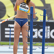Fabiana Murer, Brazil, during her victory in the Women's Pole Vault competition at the Diamond League Adidas Grand Prix at Icahn Stadium, Randall's Island, Manhattan, New York, USA. 14th June 2014. Photo Tim Clayton