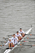 London, GREAT BRITAIN,  Tideway Scullers I, Bow Tom GALE, 2 Alan CAMPELL, 3. Mahe DRYSDALE, and Iztok COP, Pennant winners Elite M4X Fullers Fours Head of the River Race, Raced over the reverse Championship Course, Mortlake to Putney. Saturday  [Date}. [Mandatory Credit. Peter Spurrier/Intersport Images] Rowing Course: River Thames, Championship course, Putney to Mortlake 4.25 Miles,