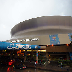 Apr 2, 2012; New Orleans, LA, USA; A general view as fans arrive before the finals of the 2012 NCAA men's basketball Final Four between the Kentucky Wildcats and Kansas Jayhawks at the Mercedes-Benz Superdome. Mandatory Credit: Derick E. Hingle-US PRESSWIRE