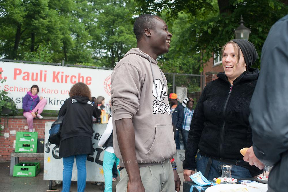 Flüchtlinge aus Libyen , Refugees from Libya Lampedusa in Hamburg