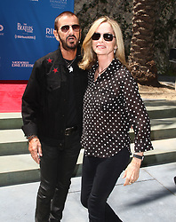Ringo Starrcelebrated his birthday with family, friends, and fans for a #PeaceAndLove salute atNoon at The Capital Records Tower in Hollywood, California on 7/7/17. 07 Jul 2017 Pictured: Ringo Starr, Barbara Bach. Photo credit: River / MEGA TheMegaAgency.com +1 888 505 6342