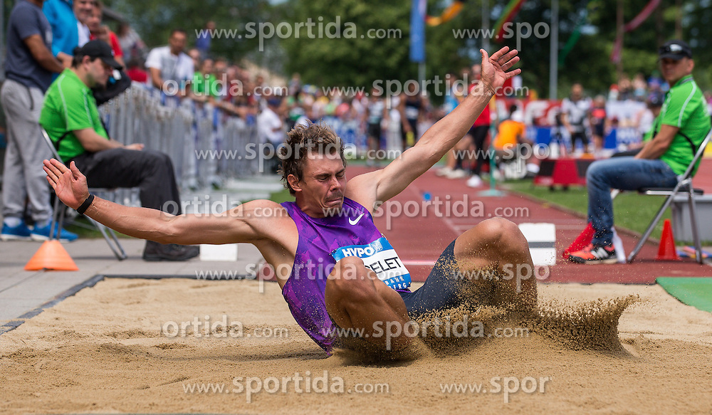 28.05.2016, Moeslestadion, Goetzis, AUT, 42. Hypo Meeting Goetzis 2016, Zehnkampf der Herren, Weitsprung, im Bild Adam Sebastian Helcelet (CZE) // Adam Sebastian Helcelet of Czech Republic in action during the long jump event of the Decathlon competition at the 42th Hypo Meeting at the Moeslestadion in Goetzis, Austria on 2016/05/28. EXPA Pictures © 2016, PhotoCredit: EXPA/ Peter Rinderer