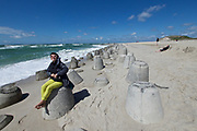 Sylt, Germany. Hörnum Odde, Southern tip of the island. Concrete Tetrapods (wave breakers).