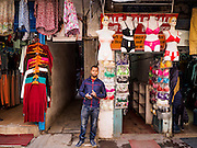 05 MARCH 2017 - KATHMANDU, NEPAL:  A vendor on a street in Kathmandu. Life is starting to return to normal in Kathmandu after an earthquake in 2015 devastated Nepal.    PHOTO BY JACK KURTZ