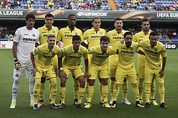 September 14, 2017 - Villarreal, Spain - Villarreal CF line ups  during the UEFA Europa League Group A football match between Villarreal CF vs FC Astana  at La Ceramica stadium in Villarreal  on September 14, 2017. (Credit Image: © Jose Miguel Fernandez/NurPhoto via ZUMA Press)