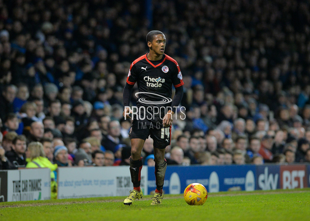 Crawley Town Striker Lewis Young during the Sky Bet League 2 match between Portsmouth and Crawley Town at Fratton Park, Portsmouth, England on 2 January 2016. Photo by Adam Rivers.
