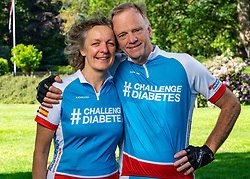 Mieke & Jan for the training on the beautiful mountain bike track around Radio Kootwijk, the first serious step was taken during this Corona crisis for La Vuelta Soria & Navarra at the Veluwe on June 01, 2020 in Radio Kootwijk, Netherlands