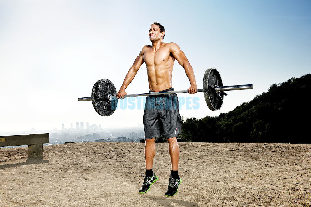 Nick Denbeigh works out at Runyon Canyon in Hollywood California.