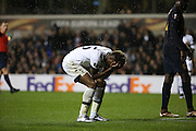 Tottenham Hotspur midfielder Joshua Onomah after missing a glorious chance during the Europa League match between Tottenham Hotspur and Monaco at White Hart Lane, London, England on 10 December 2015. Photo by Matthew Redman.