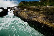 Detail of rocky shoreline, Dudley Beach, East Coast Australia.