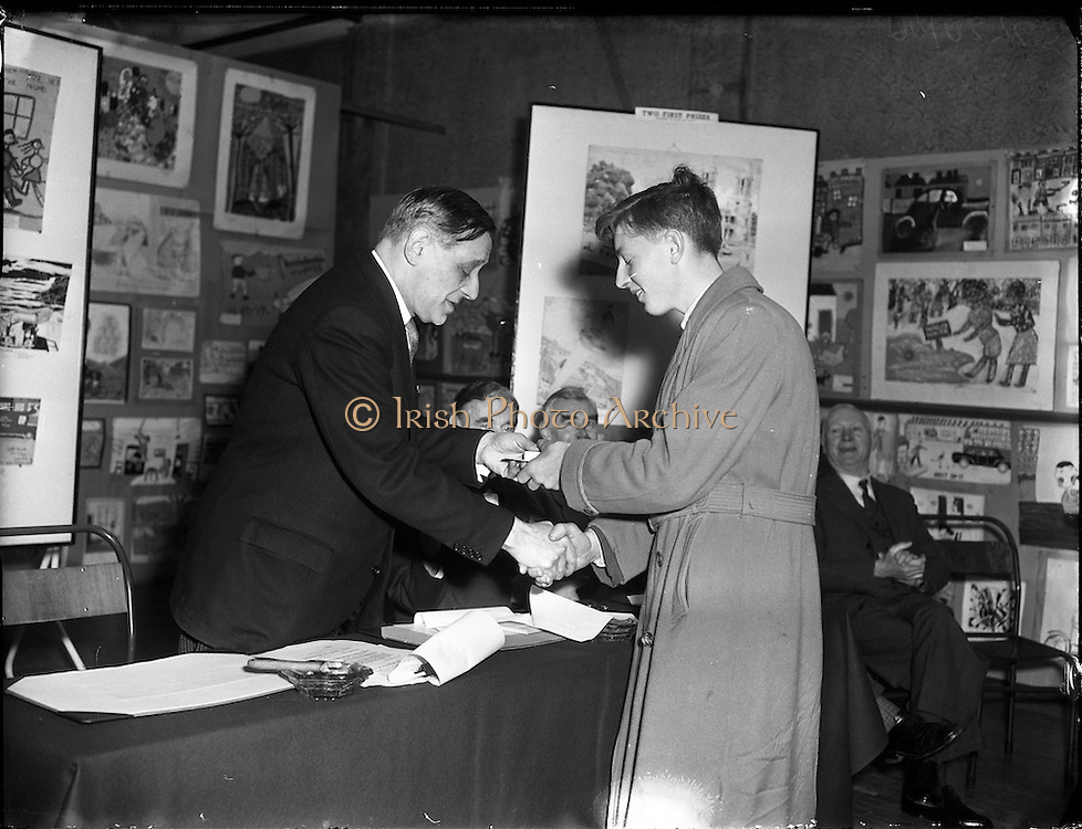 21/12/1956<br /> 12/21/1956<br /> 21 December 1956<br /> <br /> Alderman R Briscoe, Lord Mayor of Dublin, Opening Caltex Child Art Exhibition at Parnell Square