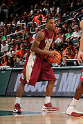 January 27, 2013: Aaron Thomas #25 of Florida State in action during the NCAA basketball game between the Miami Hurricanes and Florida State Seminoles at the BankUnited Center in Coral Gables, FL. The Hurricanes defeated the Seminoles 71-47.