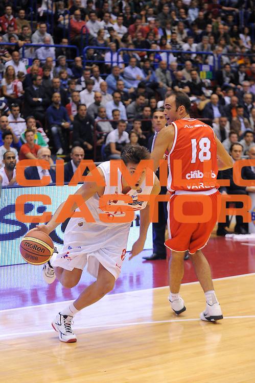DESCRIZIONE : Milano Lega A 2011-12 EA7 Emporio Armani Milano Cimberio Varese<br /> GIOCATORE : Danilo Gallinari<br /> CATEGORIA : Palleggio<br /> SQUADRA : EA7 Emporio Armani Milano<br /> EVENTO : Campionato Lega A 2011-2012<br /> GARA : EA7 Emporio Armani Milano Cimberio Varese<br /> DATA : 09/10/2011<br /> SPORT : Pallacanestro<br /> AUTORE : Agenzia Ciamillo-Castoria/A.Dealberto<br /> Galleria : Lega Basket A 2011-2012<br /> Fotonotizia : Milano Lega A 2011-12 EA7 Emporio Armani Milano Cimberio Varese<br /> Predefinita :