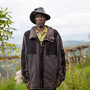 Coffee farmer Jerivelieu Ntamfurayinda is shown after making a delivery of coffee cherries to the Dukendakawa Cooperative in the mountains of Rwanda. Photographed on Tuesday, May 2, 2017.  (Joshua Trujillo, Starbucks)