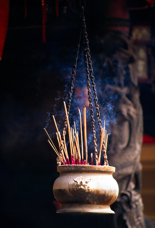 Incense (joss sticks), Thian Hock Keng Temple, Singapore