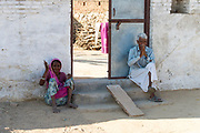Old couple from Rajasthan, India.