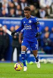 LEICESTER, ENGLAND - Saturday, November 10, 2018: Leicester City's Demarai Gray during the FA Premier League match between Leicester City FC and Burnley FC at the King Power Stadium. (Pic by David Rawcliffe/Propaganda)