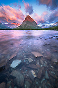 Grinnel Point at Sunrise in Glacier National Park.