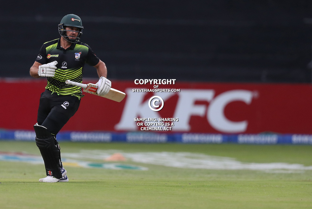 Christiaan Jonker of the Warriors during the Hollywoodbets Dolphins and Warriors T20 T20 Challenge.Sahara Stadium, Kingsmead Durban, South Africa.13 November 2016 - (Photo by Steve Haag)