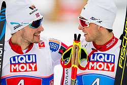 February 24, 2019 - Seefeld In Tirol, AUSTRIA - 190224 Jan Schmid and Jarl Magnus Riiber of Norway after coming second in the men's nordic combined team sprint during the FIS Nordic World Ski Championships on February 24, 2019 in Seefeld in Tirol..Photo: Vegard Wivestad GrÂ¿tt / BILDBYRN / kod VG / 170297 (Credit Image: © Vegard Wivestad Gr¯Tt/Bildbyran via ZUMA Press)