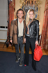 MICHELE MALENOTTI and CECILIA GABURRO at an evenig of Jewellery & Photography to launch the Buccellati 'Opera Collection' held at Spencer House, London on 21st October 2015.