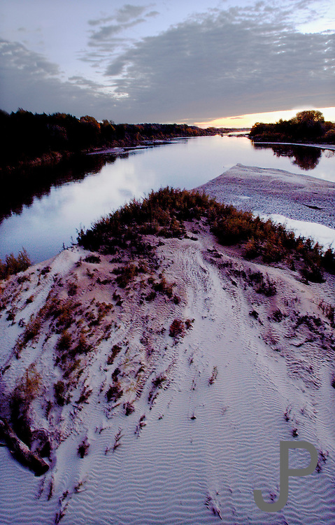 Sunrise at the Cimarron River south of Crescent, Oklahoma