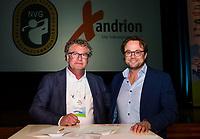 BUSSUM - NVG / NGF/ PGA congres 2018. The drive to happiness.  Rutger van Londen (Xandrion) met Dirk-Jan Vink (NVG) COPYRIGHT KOEN SUYK