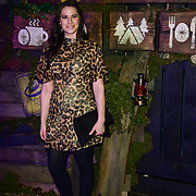 Kat Shoob arrives at the Creme Egg Camp - grand opening at its Shoreditch pop-up with an evening of themed cocktails and treats on 18th January 2018, London, UK.