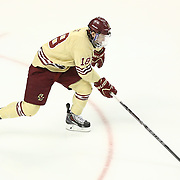 Michael Sit #18 of the Boston College Eagles on the ice during The Beanpot Championship Game at TD Garden on February 10, 2014 in Boston, Massachusetts. (Photo by Elan Kawesch)