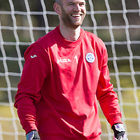 St Johnstone Training...06.04.15<br /> Keeper Alan Mannus pictured in training this morning ahead of tomorrow's game against Ross County after signing a new two year contract.<br /> Picture by Graeme Hart.<br /> Copyright Perthshire Picture Agency<br /> Tel: 01738 623350  Mobile: 07990 594431