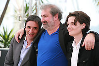 Director Samuel Benchetrit, actors Gustave Kervern and Jules Benchetrit at the Asphalte - Macadam Stories film photo call at the 68th Cannes Film Festival Sunday May 17th 2015, Cannes, France.