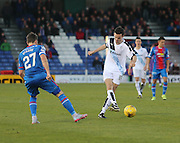 Dundee's Paul McGinnn and Inverness' Iain Vigurs - Inverness Caledonian Thistle v Dundee at Caledonian Stadium, Inverness<br />