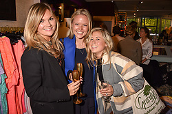 Left to right, Lucia Dailey, Georgie Killik and Maddie Smith at the Seren London Launch Party held at Baar And Bass, 336 Kings Road, London England. 26 April 2017.