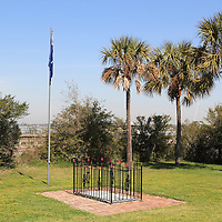 The grave of Col. William Moultrie on the grounds of the Fort Moultrie Visitors Center. Col. Moultrie defeated the British in a battle for Charleston early in the American Revolutionary War. Fort Moultrie was used by the Confederates to bombard Fort Sumter in Charleston harbor to begin the American Civil War.