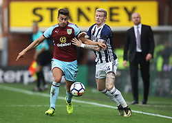 Matthew Lowton of Burnley (L) and James McClean of West Bromwich Albion in action - Mandatory by-line: Jack Phillips/JMP - 19/08/2017 - FOOTBALL - Turf Moor - Burnley, England - Burnley v West Bromwich Albion - Premier League