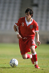 Nicosia, Cyprus - Saturday, October 13, 2007: Wales' Gareth Bale in action against Cyprus during the Group D UEFA Euro 2008 Qualifying match at the New GSP Stadium in Nicosia. (Photo by David Rawcliffe/Propaganda)