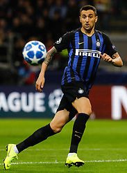 November 6, 2018 - Milan, Italy - Matias Vecino of Inter Milan in action during the Group B match of the UEFA Champions League between FC Internazionale and FC Barcelona on November 6, 2018 at San Siro Stadium in Milan, Italy. (Credit Image: © Mike Kireev/NurPhoto via ZUMA Press)