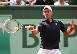 Novak Djokovic competing in second round of the French Open, at Roland Garros, Paris , May, 2012 , Photo by: Imago / i-Images