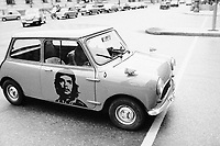 1974, Munich, West Germany --- Che Guevara Painted on Mini Car Door --- Image by © Owen Franken/CORBIS - Photograph by Owen Franken