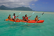 Kayaking, Kaneohe Bay Oahu, Hawaii<br />