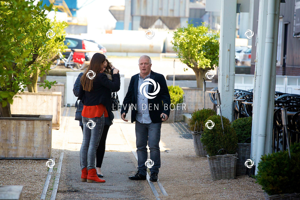 AMSTERDAM - Bij The Harbour Club werden de kandidaten voorgesteld van het SBS6 programma 'Sterren Springen'. Met hier op de foto  Peter Jan Rens en zijn vriendin Virginia. FOTO LEVIN DEN BOER - PERSFOTO.NU