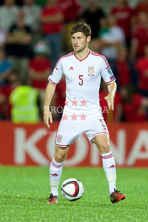 ANDORRA LA VELLA, ANDORRA - Tuesday, September 9, 2014: Wales' Ben Davies in action against Andorra during the opening UEFA Euro 2016 qualifying match at the Camp d'Esports del M.I. Consell General. (Pic by David Rawcliffe/Propaganda)