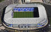 aerial photograph of  Cardiff City Football Stadium  Wales UK