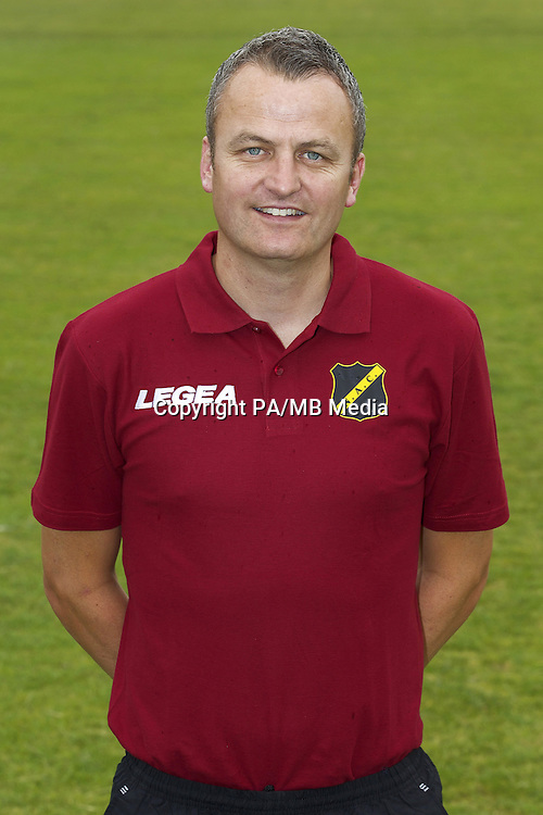 assistant trainer Rob Penders during the team presentation of NAC Breda on July 07, 2015 at the Rat Verlegh stadium in Breda, The Netherlands.