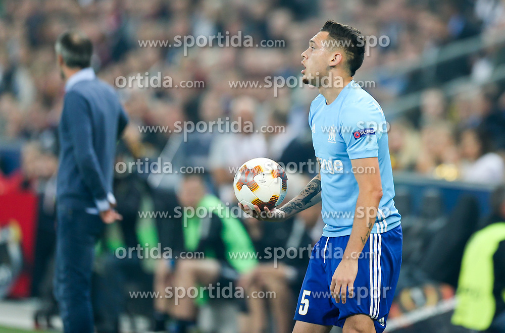 03.05.2018, Red Bull Arena, Salzburg, AUT, UEFA EL, FC Salzburg vs Olympique Marseille, Halbfinale, Rueckspiel, im Bild Lucas Ocampos (Olympique Marseille)// during the UEFA Europa League Semifinal, 2nd Leg Match between FC Salzburg and Olympique Marseille at the Red Bull Arena in Salzburg, Austria on 2018/05/03. EXPA Pictures © 2018, PhotoCredit: EXPA/ Roland Hackl