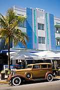 Vintage Packard 1932 Classic sedan automobile by Casablanca at Ocean Drive, South Beach, Miami, Florida, USA