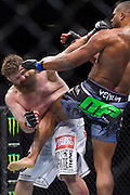 DALLAS, TX - MARCH 14:  Alistair Overeem connects with a knee to Roy Nelson during UFC 185 at the American Airlines Center on March 14, 2015 in Dallas, Texas. (Photo by Cooper Neill/Zuffa LLC/Zuffa LLC via Getty Images) *** Local Caption *** Alistair Overeem; Roy Nelson