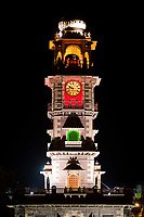 clock tower  in the beautiful city of jodhpur in rajasthan state in india