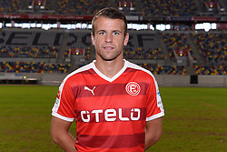 02.07.2015, Esprit Arena, Duesseldorf, GER, 2. FBL, Fortuna Duesseldorf, Fototermin, im Bild Lukas Schmitz ( Fortuna Duesseldorf / Portrait ) // during the official Team and Portrait Photoshoot of German 2nd Bundesliga Club Fortuna Duesseldorf at the Esprit Arena in Duesseldorf, Germany on 2015/07/02. EXPA Pictures &copy; 2015, PhotoCredit: EXPA/ Eibner-Pressefoto/ Thienel<br /> <br /> *****ATTENTION - OUT of GER*****